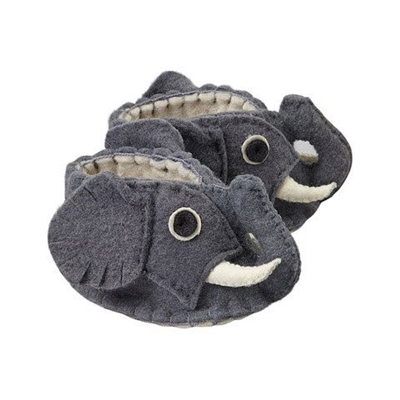 Elephant Baby Booties - Wool Felt