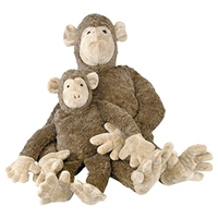 Organic Stuffed Monkey With Removable Heating Pad