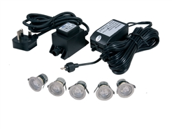 5-Kit LED IP67 Accent Lights (Cool White)