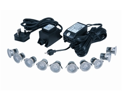 10-Kit LED IP67 Accent Lights (Cool White)