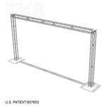 Atlantic - 20 ft by 10 ft Aluminum TK8 Box Truss Arch