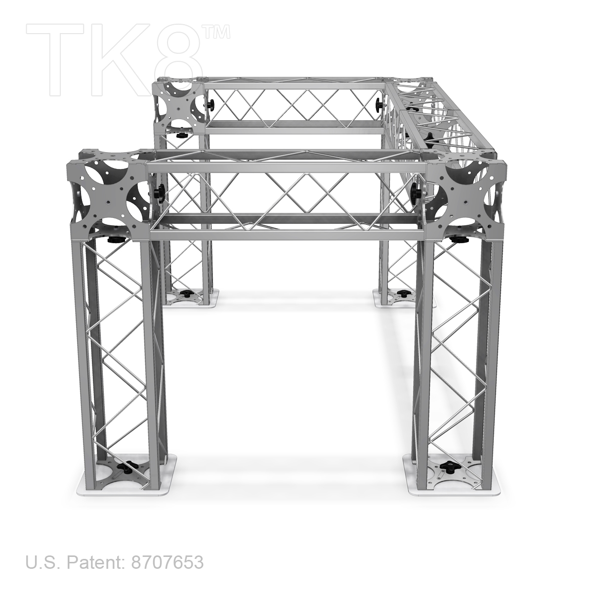 Dj Four 4ft X 6ft Tk8 Aluminum Box Truss Dj Stand Frame
