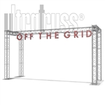 Grid - 24 ft by 13 ft Ultratruss Double column box truss Arch