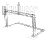 Osaka - 15 ft by 7 ft Aluminum Ultratruss Box Truss Arch