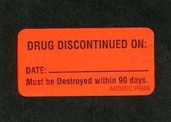 Labels - Drug Discontinued