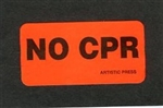 Labels - No CPR