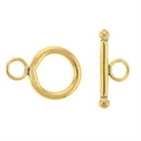 14K Gold Filled Smooth Round Toggle Clasp - 12mm
