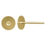 14K Gold Filled 6mm Flat Post