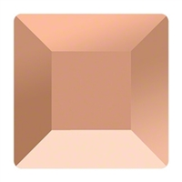 6mm Square Flatback Rose Gold