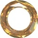 14mm Round Cosmic Ring Crystal Copper CAL