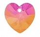 28mm Heart Pendant Astral Pink