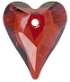 17mm Wild Heart Pendant Red Magma