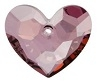 28mm Truly-In-Love Heart Pendant Antique Pink