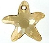 28mm Starfish Pendant Golden Shadow