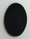 40 x 30mm Oval Acrylic Mirror-BLACK