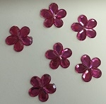 Acrylic/Plastic Flower Flat Back-11mm