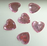 Acrylic/Plastic Heart Flat Back-12mm