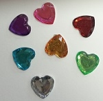 Acrylic/Plastic Heart Flat Back-8mm