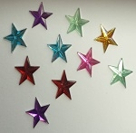 Acrylic/Plastic Star Flat Back-6mm
