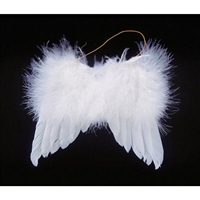 White Feather Angel Wings - 5 inch