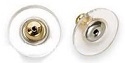 Comfort Earring Back-Plastic Disc with Gold/Surgical Steel