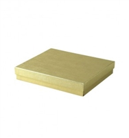 "#65 Gold Solid Top Jewelry Box- 6"" x 5"" x 1"""