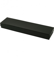 "#82 Shiny Black Solid Top Jewelry Box- 8"" x 2"" x 7/8"""