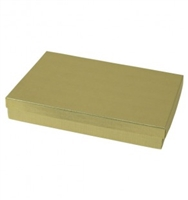 "#85 Gold Solid Top Jewelry Box- 8"" x 5 1/2"" x 1 1/4"""