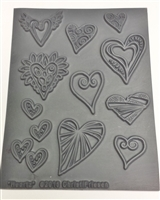 Christi Friesen Texture Stamp - Heartz #748