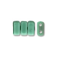 CzechMates 2-Hole Brick Bead - 3mm x 6mm - Persian Turquoise