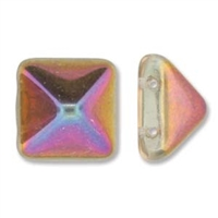 12mm Czech 2-hole Pyramid Bead- Crystal Sliperit