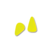5 x 8mm Czech Pressed Glass Spike Bead- Neon Yellow