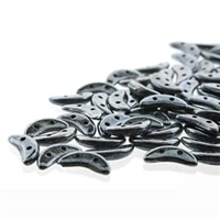 CzechMates 2-Hole Crescent Bead - 3mm x 10mm - Hematite