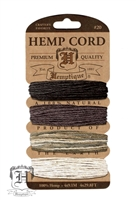 Hemptique Hemp Cord Set - 20# Test - Earthy