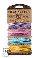 Hemptique Hemp Cord Set - 20# Test - Pastel