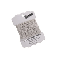 Elastic Bead Cord - Extra Fine - White - 20 yards