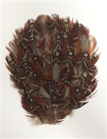 Natural Brown, Gray, & Red Pheasant Feather Pad