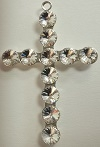 Large Rivoli Cross-52 x 34mm (2in x 1 1/4in)-CRYSTAL/SILVER