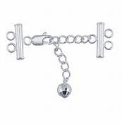 Sterling Silver Lobster Floater Clasp with Faceted Ball - 2 Strand