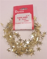 Plastic Star Garland- Gold