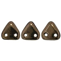 2 hole Triangle Beads-DARK BRONZE