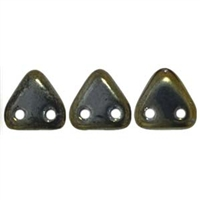 2 hole Triangle Beads-IRIS BROWN