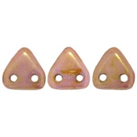 2 hole Triangle Beads-LUSTER OPAQUE ROSE GOLD TOPAZ