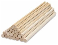 Unfinished Wood Dowel Rods