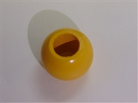 Finished Wood Beads - 20 mm Round, 10mm Hole Size - Yellow