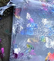Organza Bags - Butterfly Print