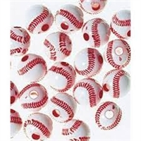 Team Sports Acrylic Baseball Beads - 12 mm - 60pc