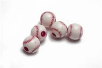Team Sports Acrylic Baseball Beads - 12 mm - 12pc