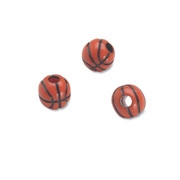 Team Sports Acrylic Basketball Beads - 12 mm - 60pc