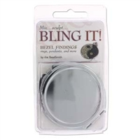 Bling It Bezel Finding - Round Mirror